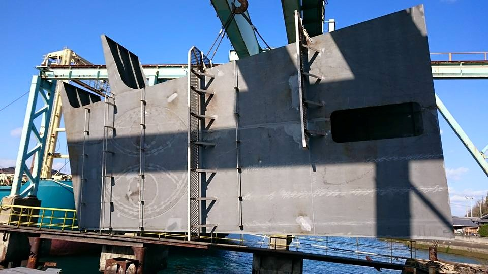 749G/T船舶用煙突